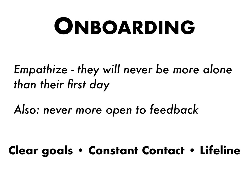 ONBOARDING Empathize - they will never be more ...