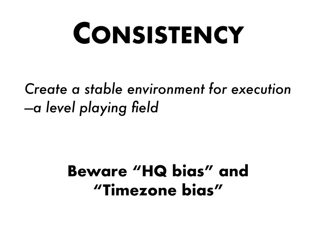 CONSISTENCY Create a stable environment for exe...