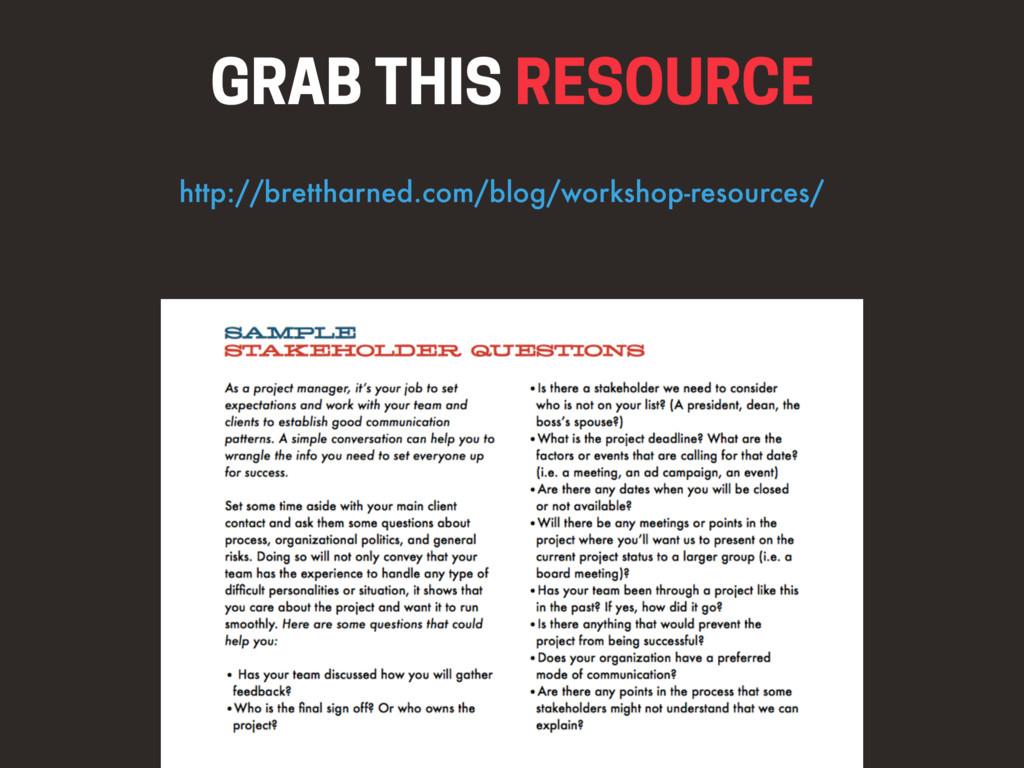 GRAB THIS RESOURCE http://brettharned.com/blog/...