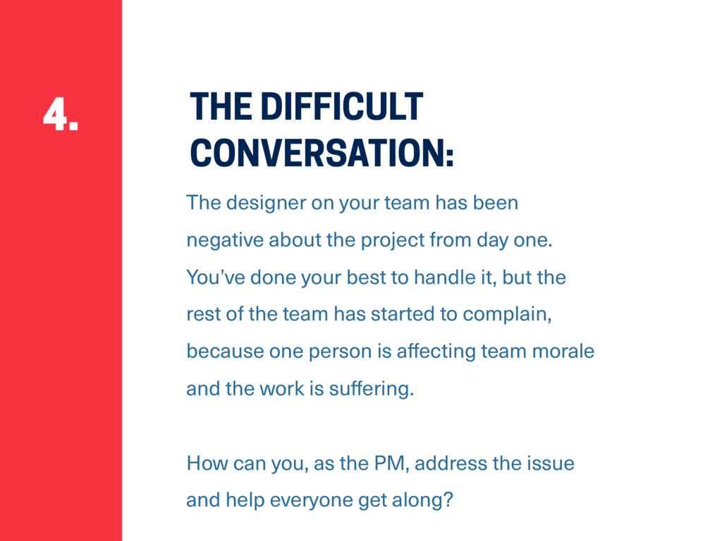 THE DIFFICULT CONVERSATION: The designer on you...