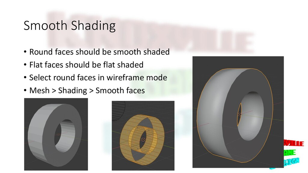 Smooth Shading • Round faces should be smooth s...