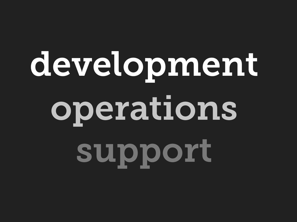 operations support development