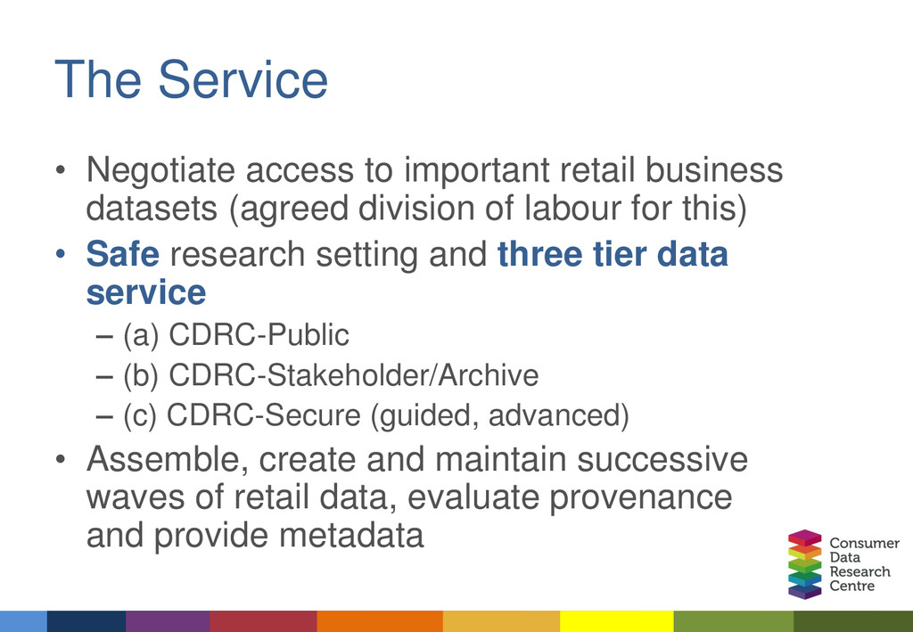 The Service • Negotiate access to important ret...