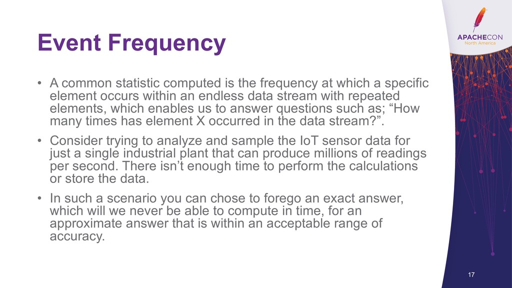 Event Frequency • A common statistic computed i...
