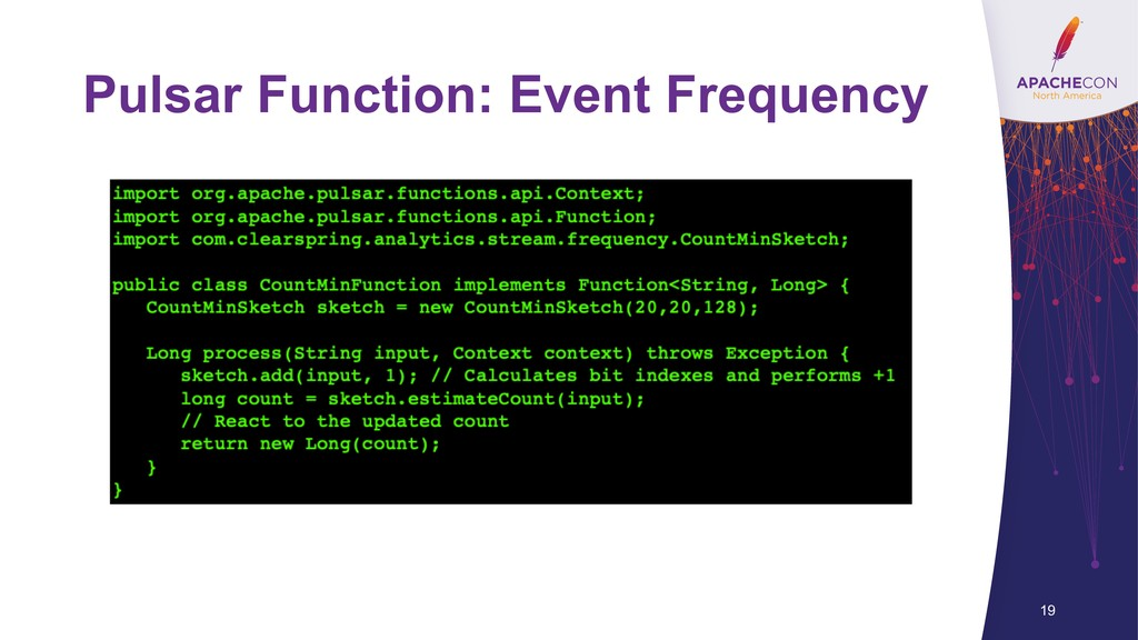 Pulsar Function: Event Frequency 19