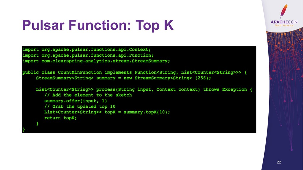 Pulsar Function: Top K 22