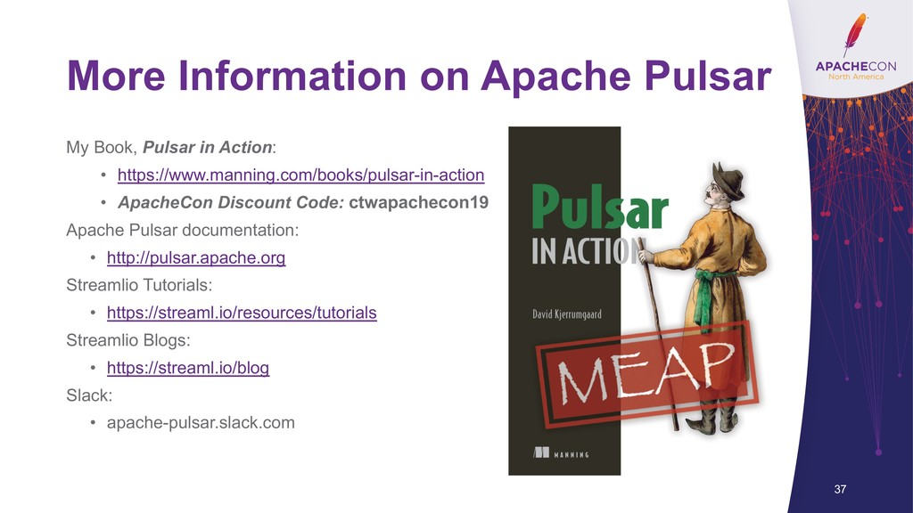 More Information on Apache Pulsar My Book, Puls...