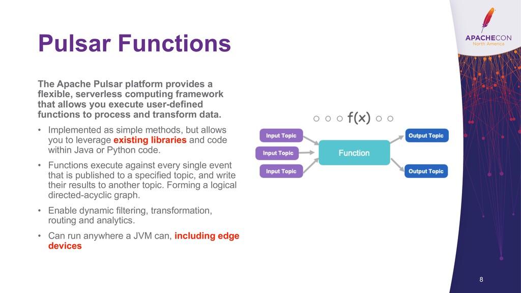 Pulsar Functions The Apache Pulsar platform pro...