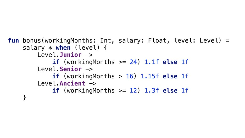 fun bonus(workingMonths: Int, salary: Float, le...