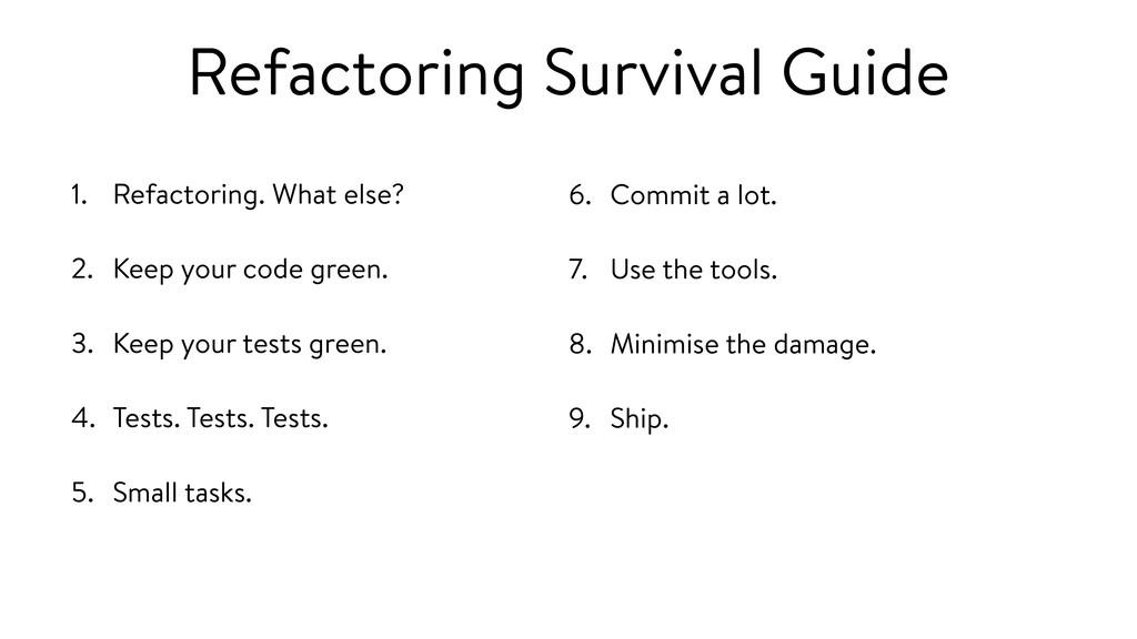 Refactoring Survival Guide 1. Refactoring. What...