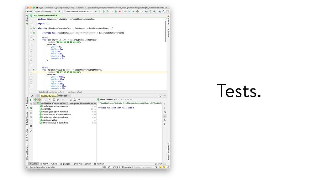 Tests.