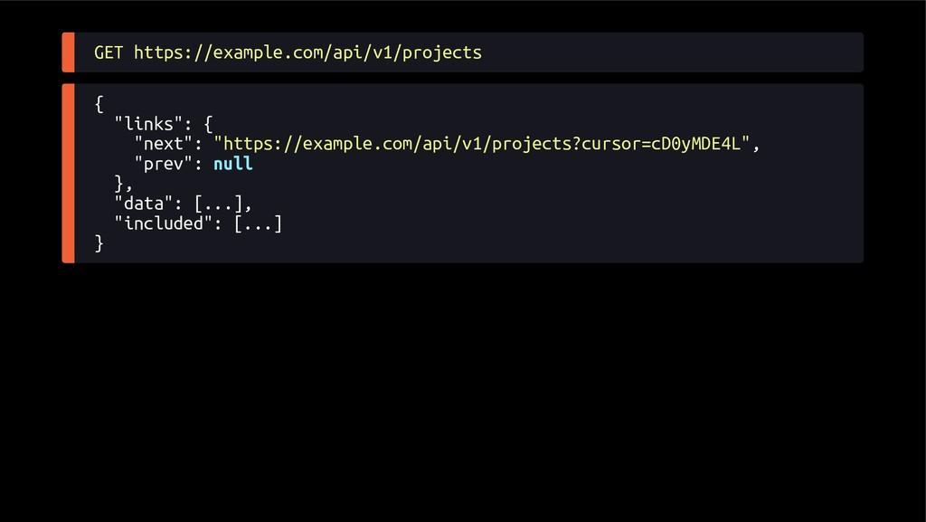 "GET https://example.com/api/v1/projects { ""link..."
