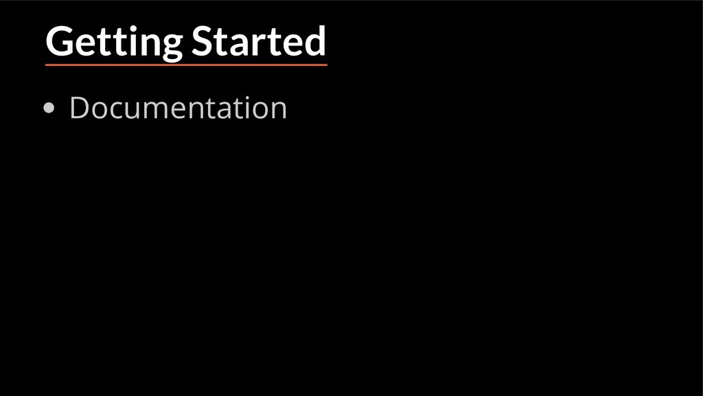 Getting Started Documentation