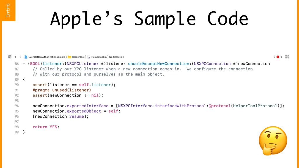 Apple's Sample Code  Intro