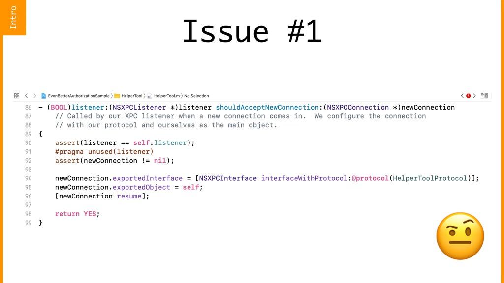 Issue #1  Intro