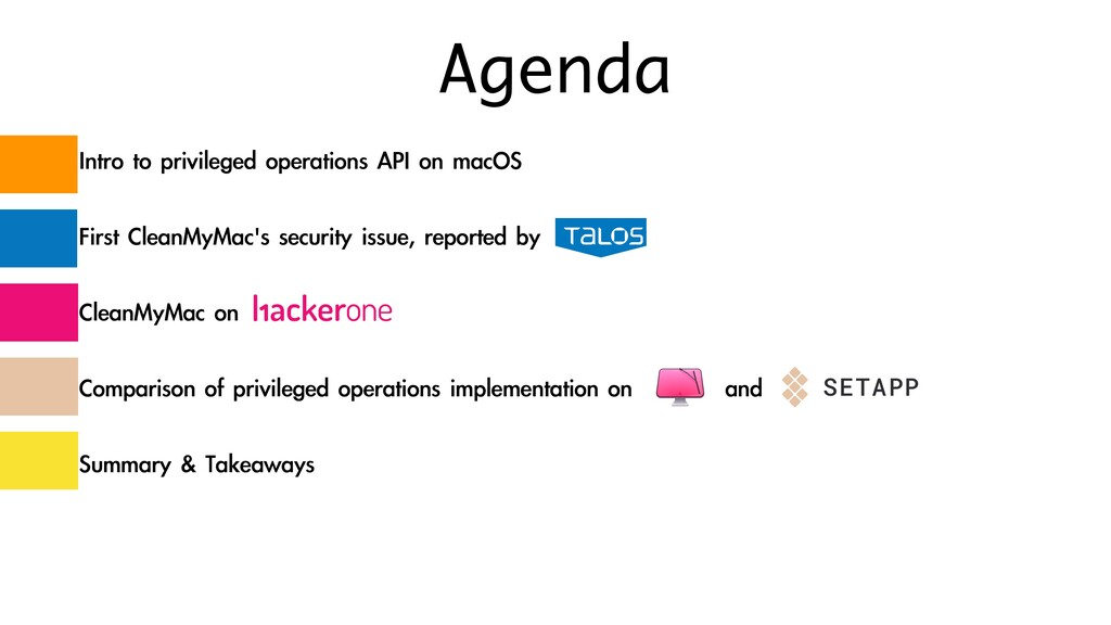 Agenda Intro to privileged operations API on ma...