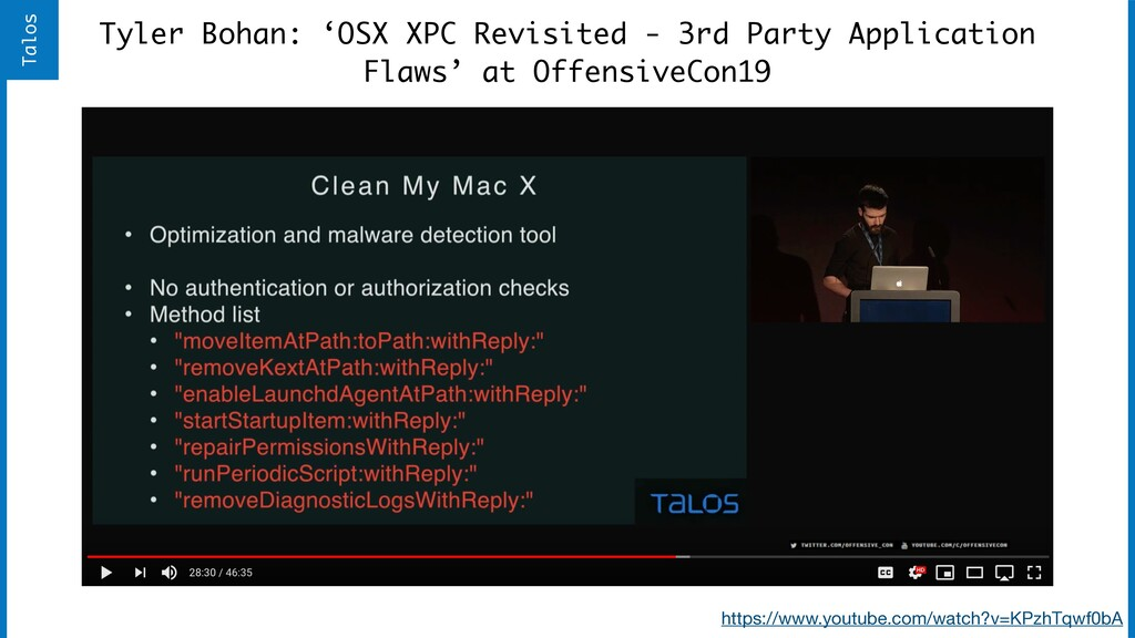 Tyler Bohan: 'OSX XPC Revisited - 3rd Party App...