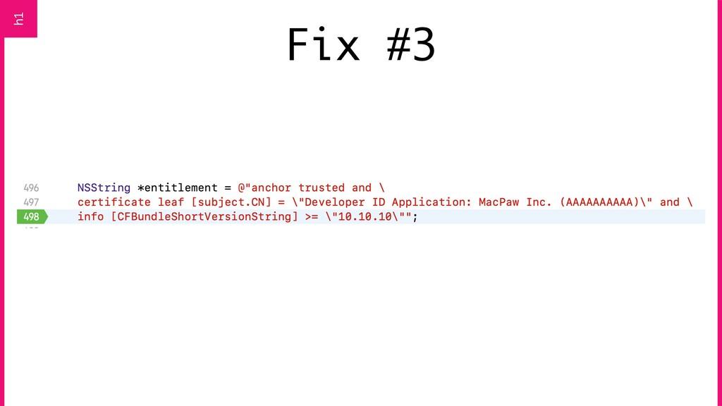 Fix #3 h1
