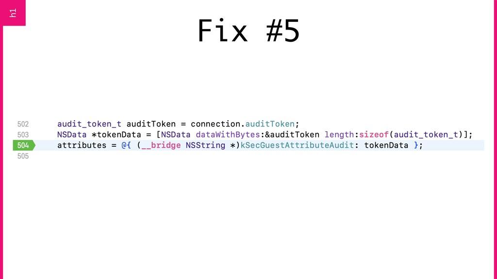 Fix #5 h1