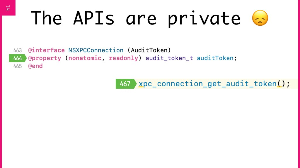 The APIs are private  h1