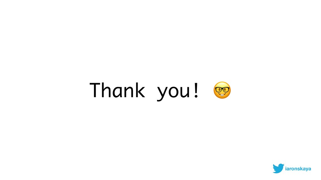 Thank you!  iaronskaya