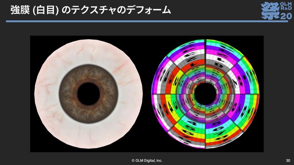 強膜 (白目) のテクスチャのデフォーム © OLM Digital, Inc. 30