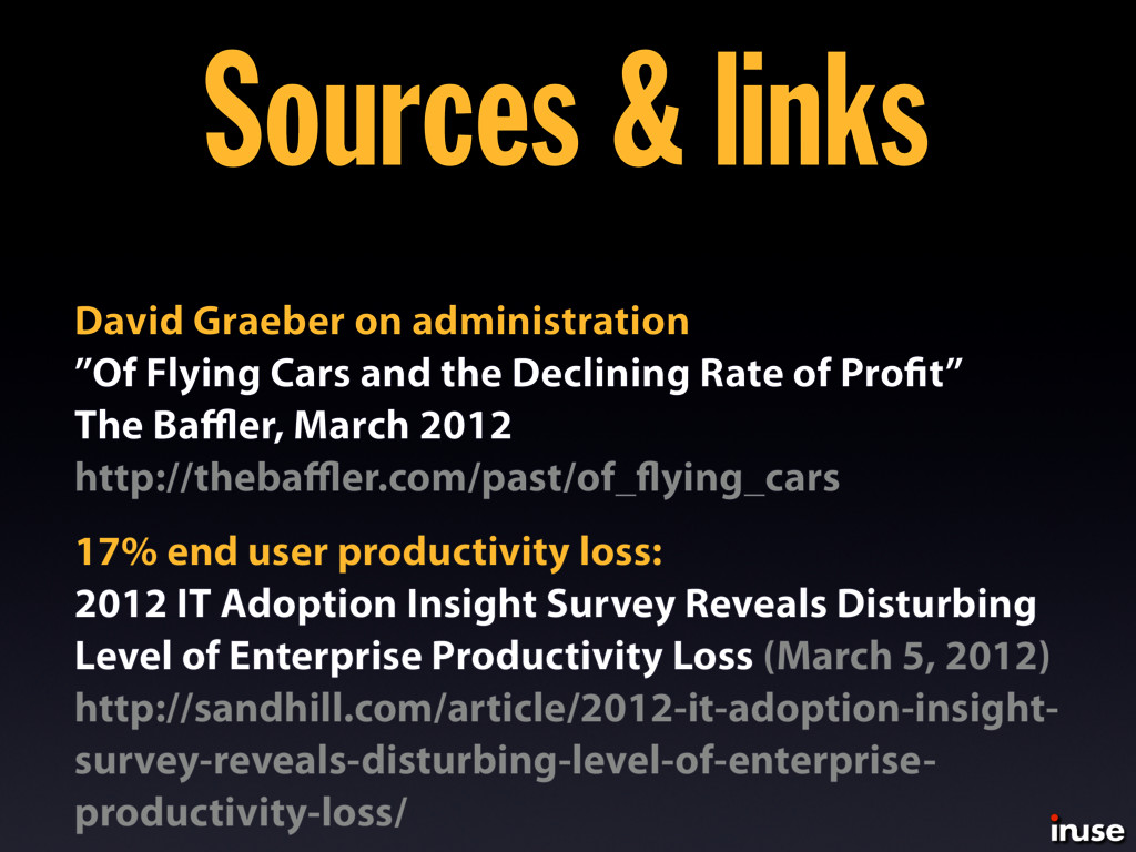 17% end user productivity loss: 2012 IT Adoptio...