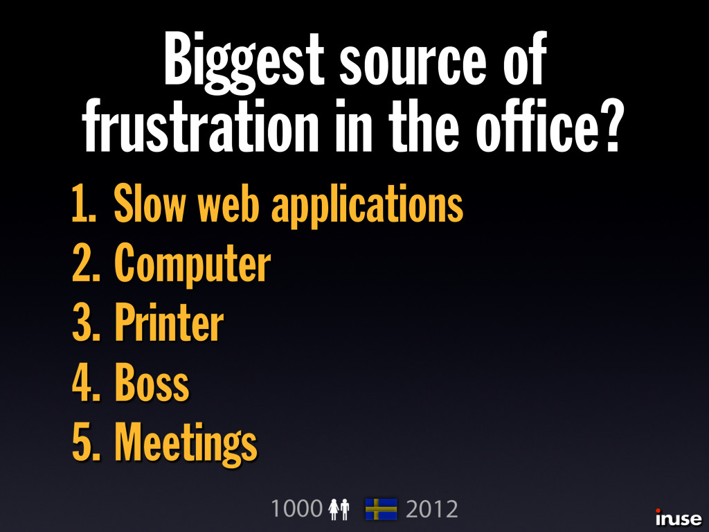 Biggest source of frustration in the office? 1. ...