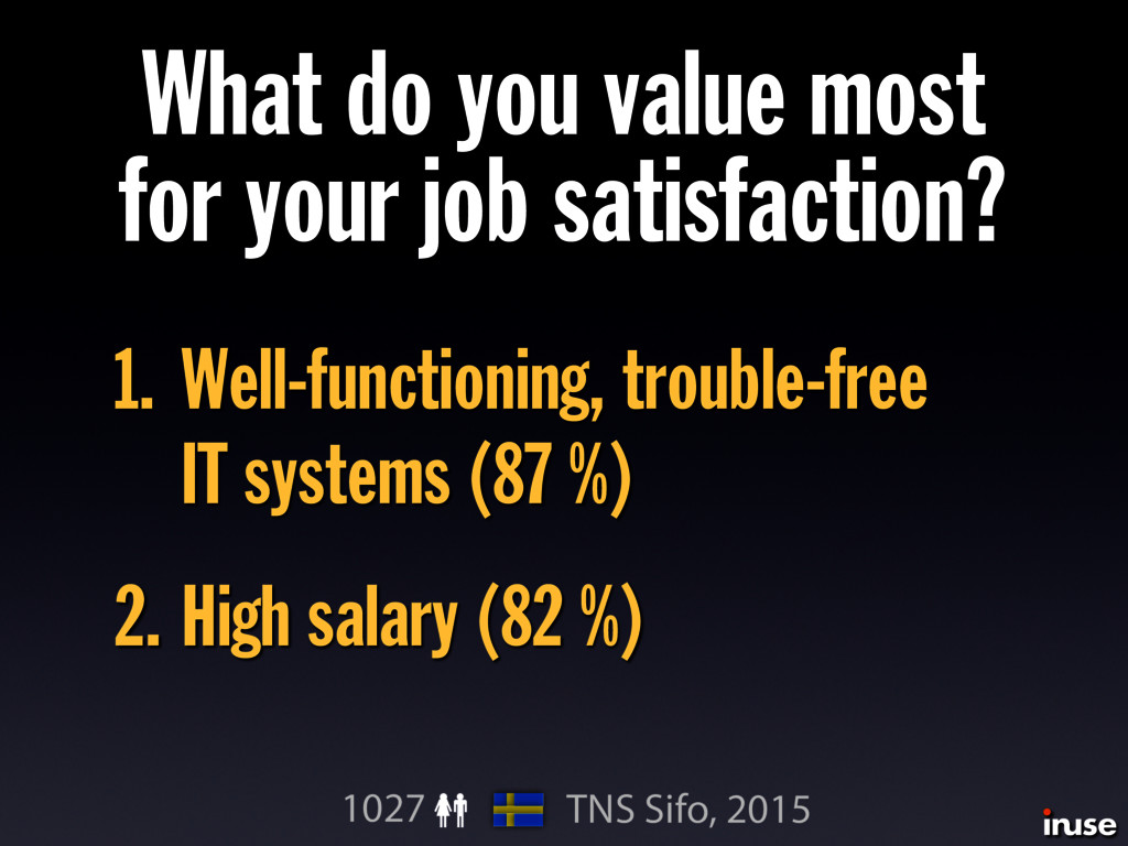 What do you value most for your job satisfactio...