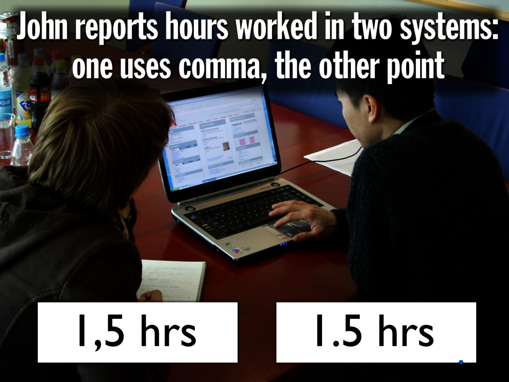 John reports hours worked in two systems: one u...