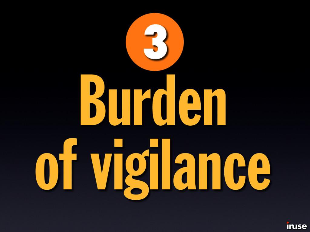 Burden of vigilance