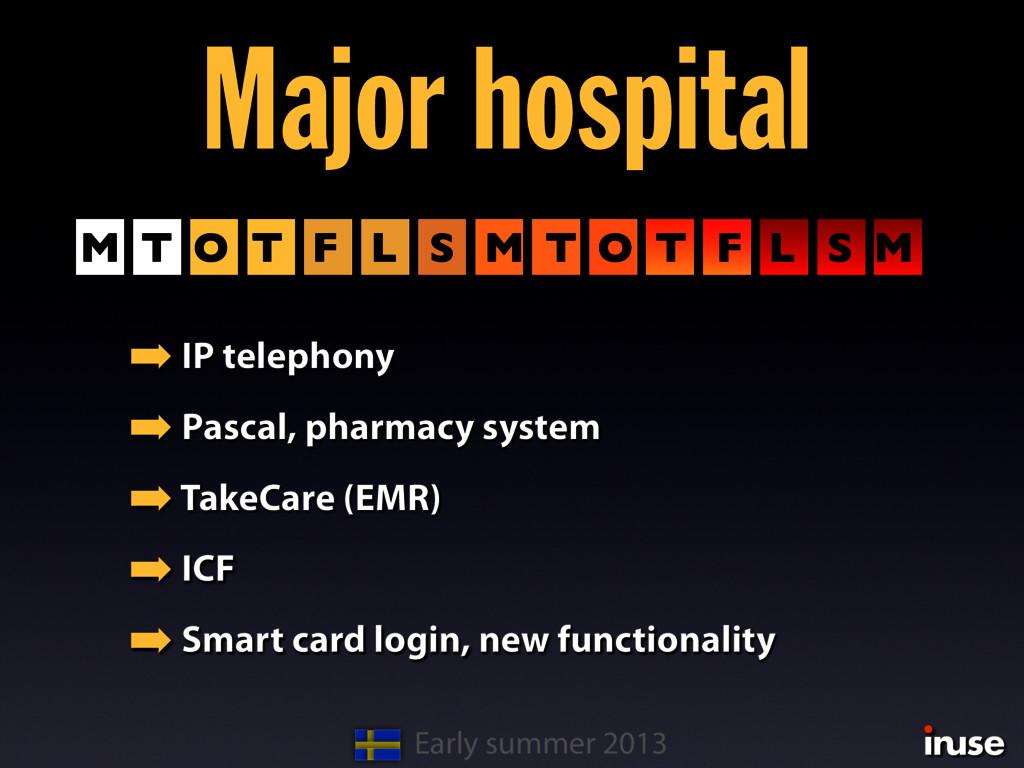 Major hospital ➡ IP telephony ➡ Pascal, pharmac...