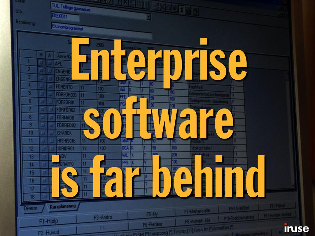 Enterprise software is far behind