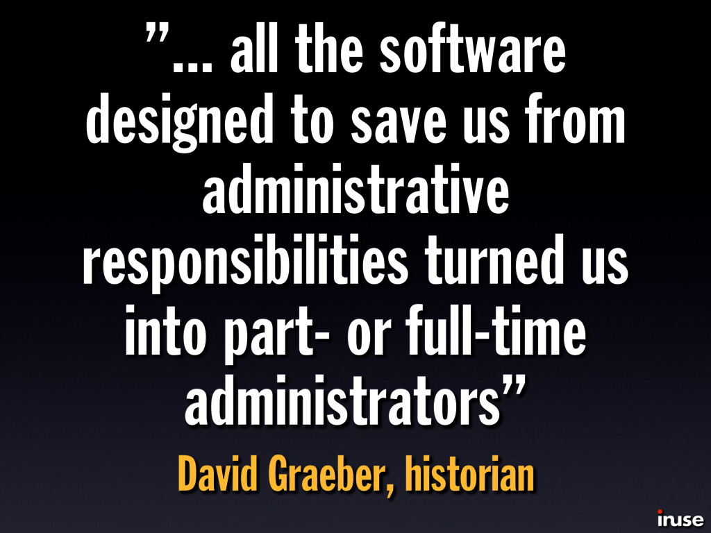 """""""... all the software designed to save us from ..."""
