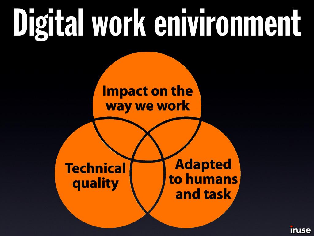 Digital work enivironment Technical quality Ada...