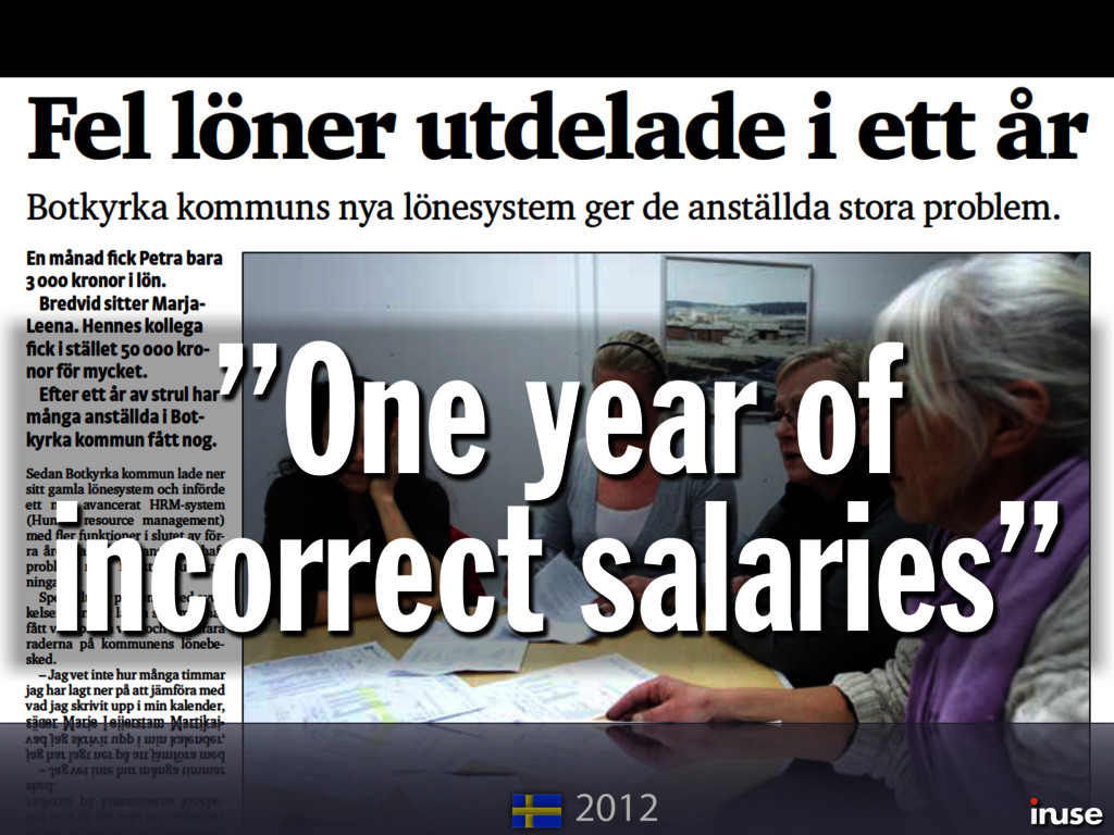 """""""One year of incorrect salaries"""" 2012"""