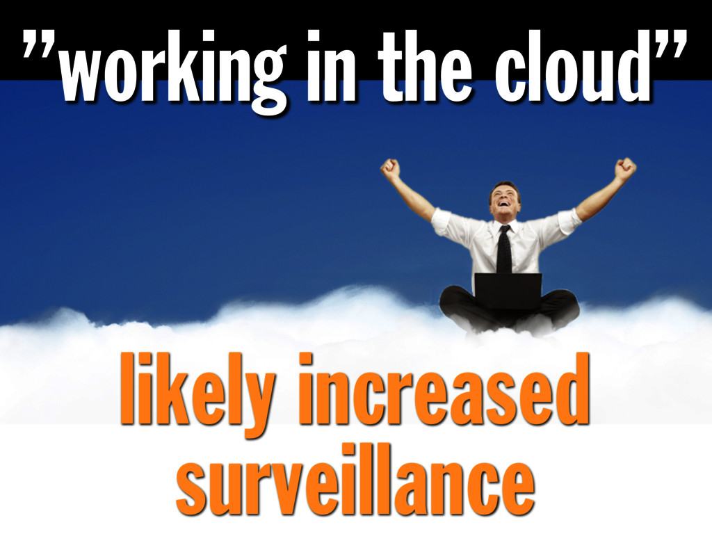 """""""working in the cloud"""" likely increased surveil..."""