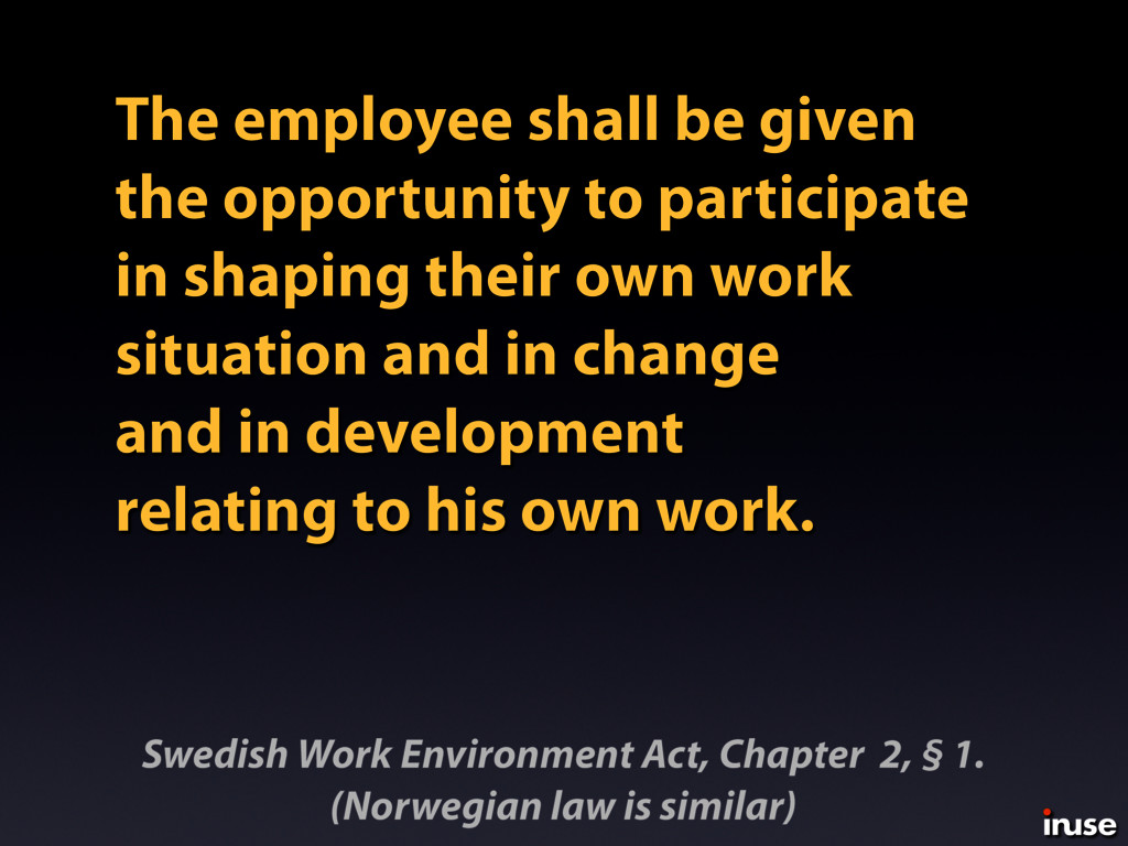 The employee shall be given the opportunity to ...