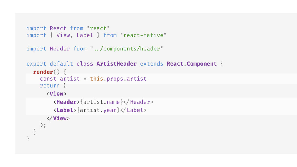 "import React from ""react"" import { View, Label ..."