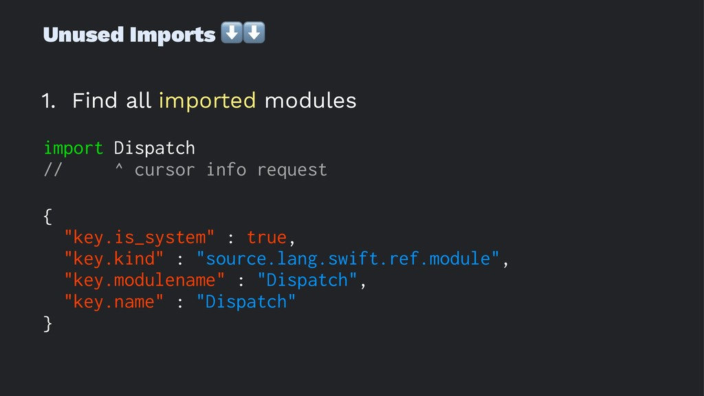 Unused Imports ⬇⬇ 1. Find all imported modules ...