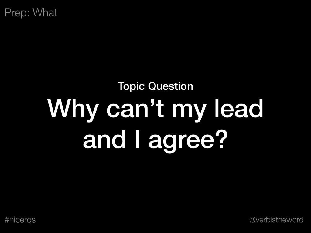 @verbistheword #nicerqs Topic Question Why can'...