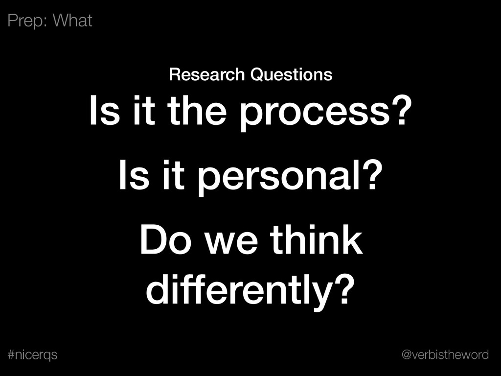 @verbistheword #nicerqs Research Questions Is i...