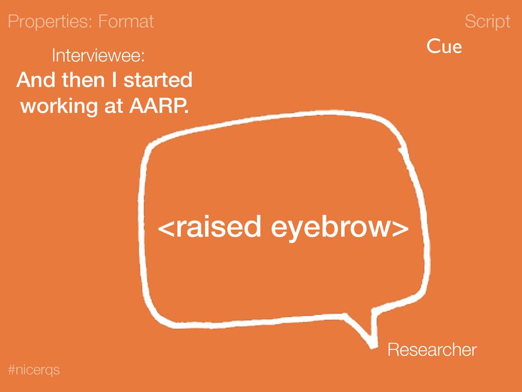 Script #nicerqs <raised eyebrow> Properties: Fo...