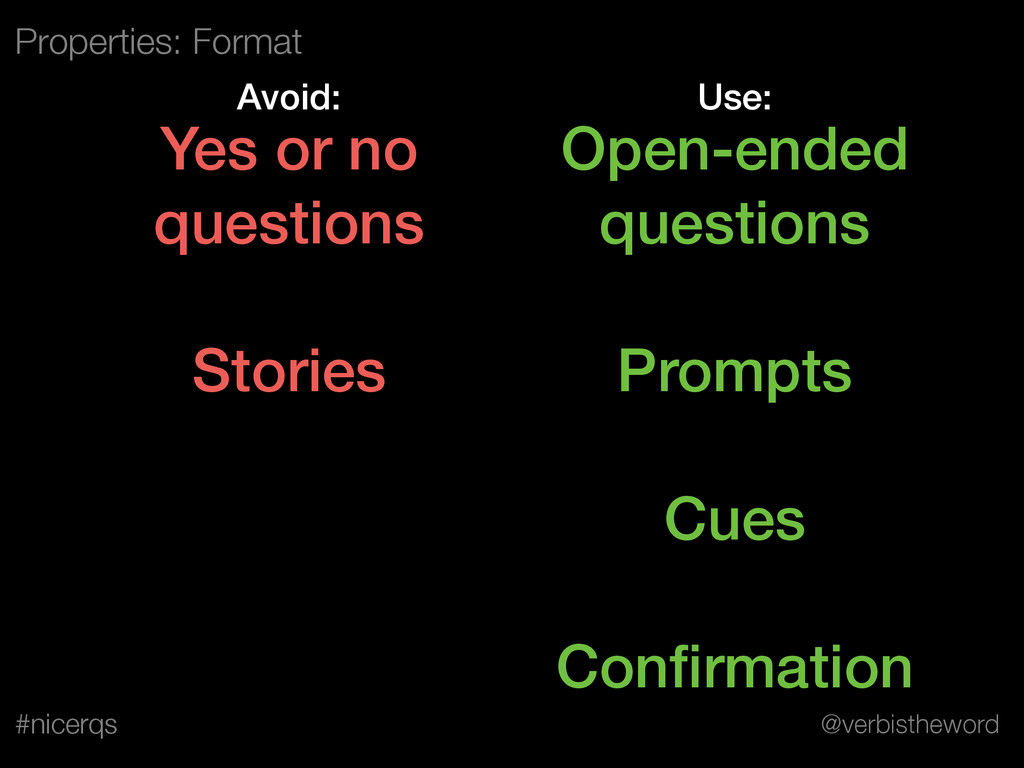 @verbistheword #nicerqs Open-ended questions ! ...