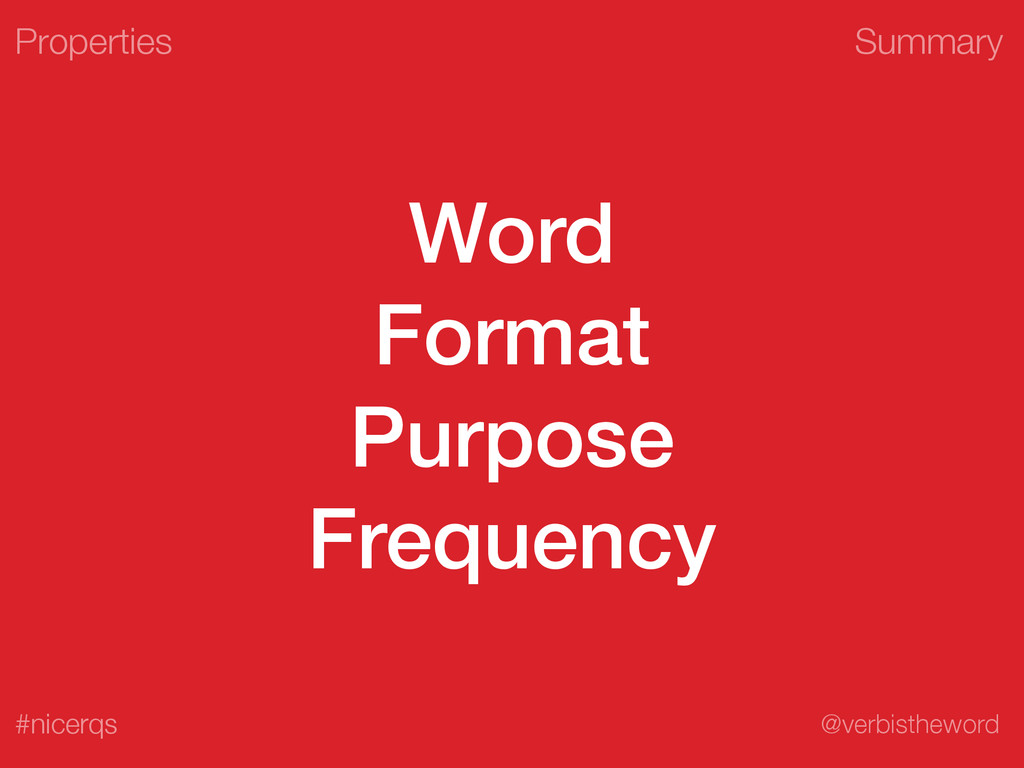 Summary @verbistheword #nicerqs Word Format Pur...