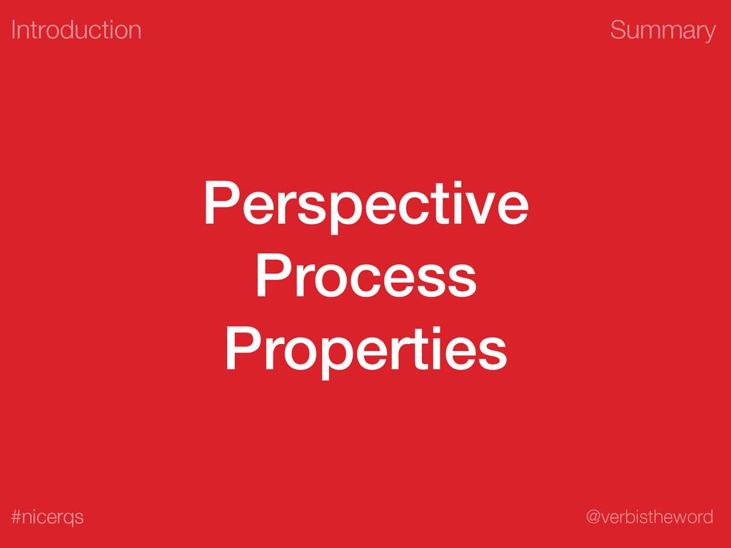 Summary @verbistheword #nicerqs Perspective Pro...