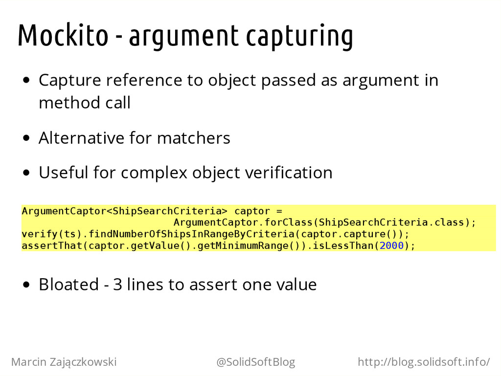 Mockito - argument capturing Capture reference ...