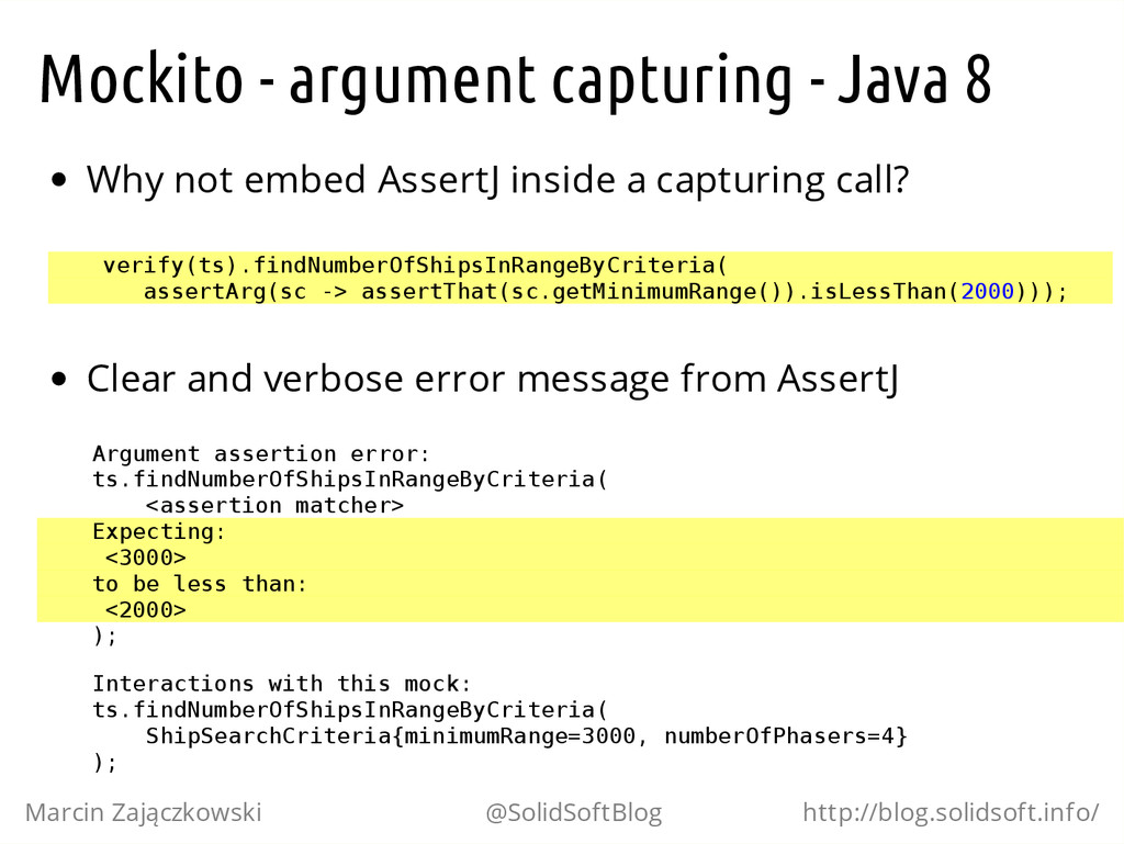 Mockito - argument capturing - Java 8 Why not e...