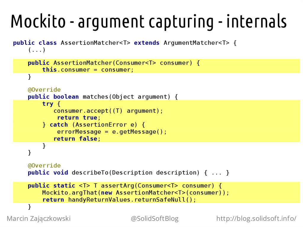 Mockito - argument capturing - internals p u b ...