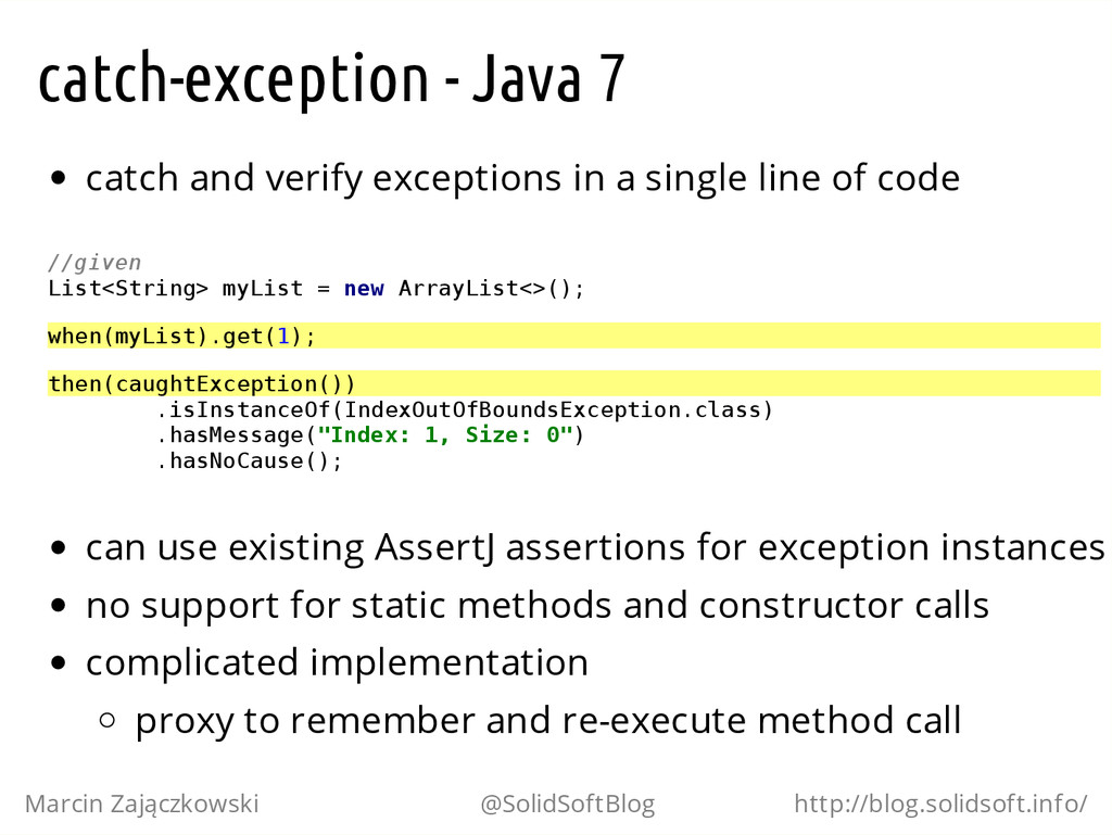 catch-exception - Java 7 catch and verify excep...